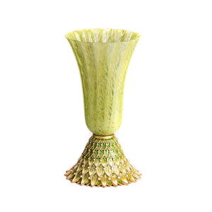 Jay Strongwater Sabrina Feather Vase - Lush Green