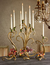 Load image into Gallery viewer, Jay Strongwater Aubree Orchid Candelabra