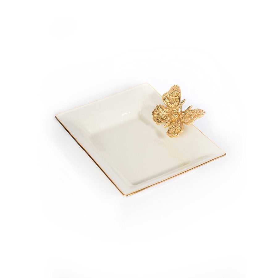 Jay Strongwater Velma Porcelain Butterfly Tray