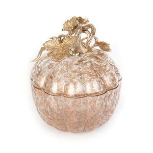 Jay Strongwater Erin Leaf & Vine Gilded Large Glass Jar