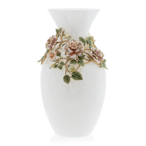 Jay Strongwater Gabrielle Rose Grand Vase