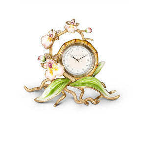 Jay Strongwater Tara Orchid Clock