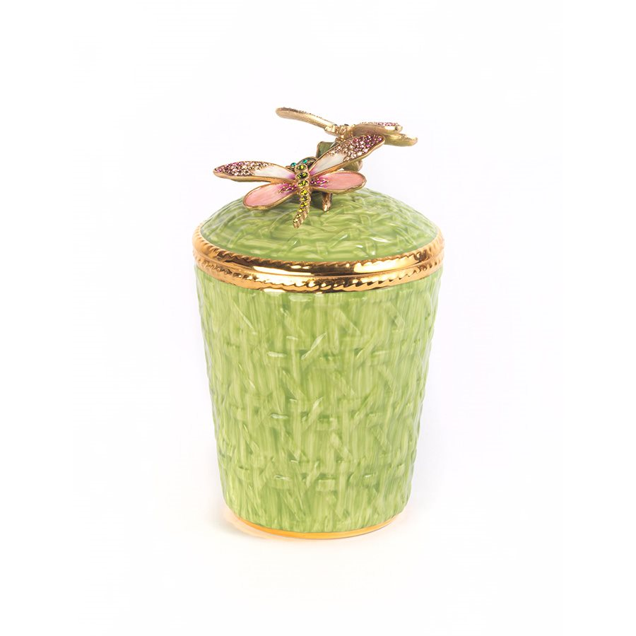 Jay Strongwater Ivy Dragonfly Candle