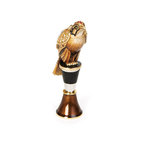 Jay Strongwater Epsen Falcon Wine Stopper & Stand