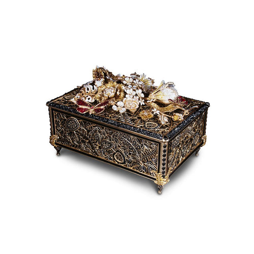 Jay Strongwater Genevieve Grand Floral Chest - Iconic