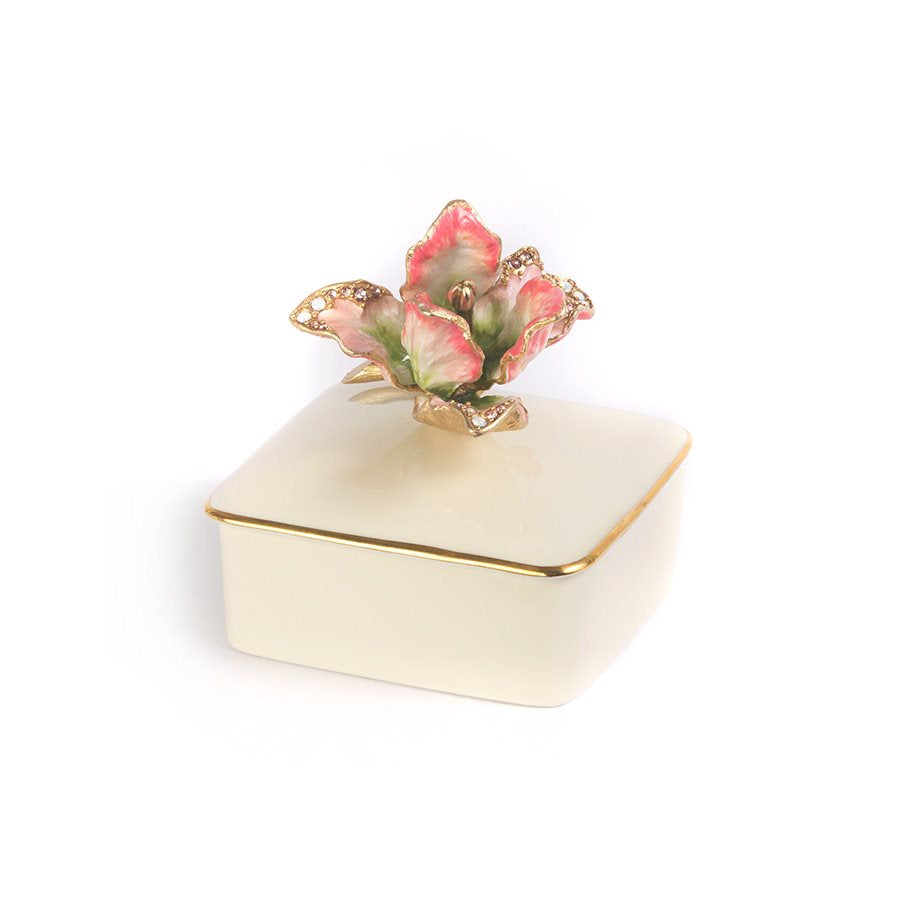 Jay Strongwater Lainey Tulip Porcelain Box