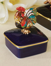 Load image into Gallery viewer, Jay Strongwater Chen Rooster Porcelain Box