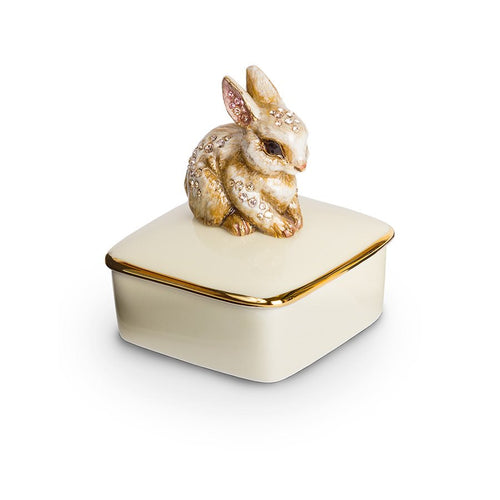 Jay Strongwater Lia Bunny Porcelain Box