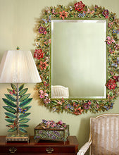 Load image into Gallery viewer, Jay Strongwater Adelaide Leaf & Flower Mirror