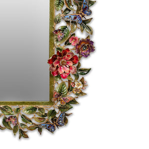 Jay Strongwater Adelaide Leaf & Flower Mirror