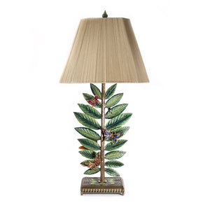 Jay Strongwater Timothy Butterfly & Leaf Lamp