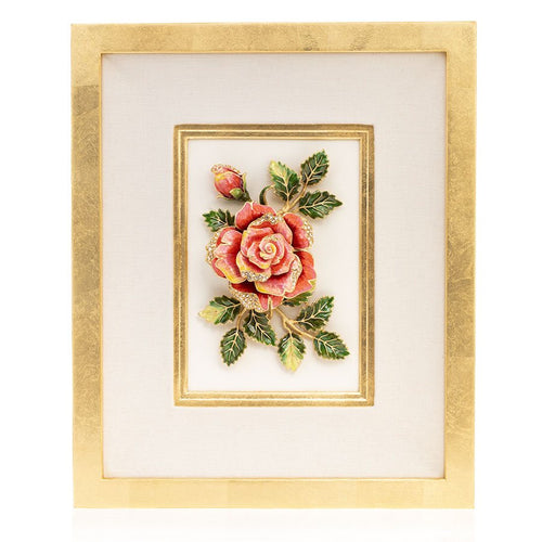 Jay Strongwater Sibylla - Rose Wall Art
