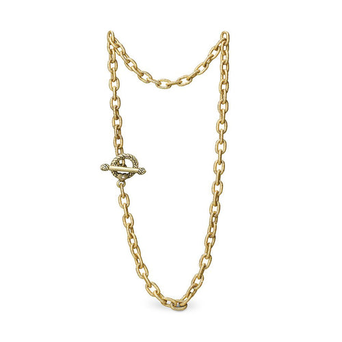 Jay Strongwater Jeanne Toggle Necklace - 17