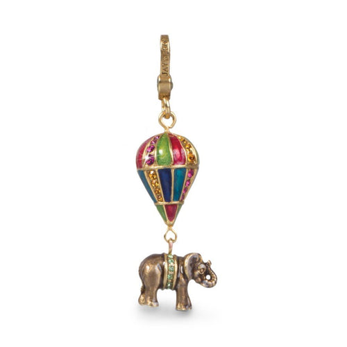 Jay Strongwater Howie Elephant On Balloon Charm