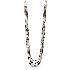 Jay Strongwater Kaylina Four-Strand Long Necklace