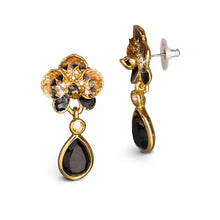 Load image into Gallery viewer, Jay Strongwater Savannah Orchid Drop Post Earrings