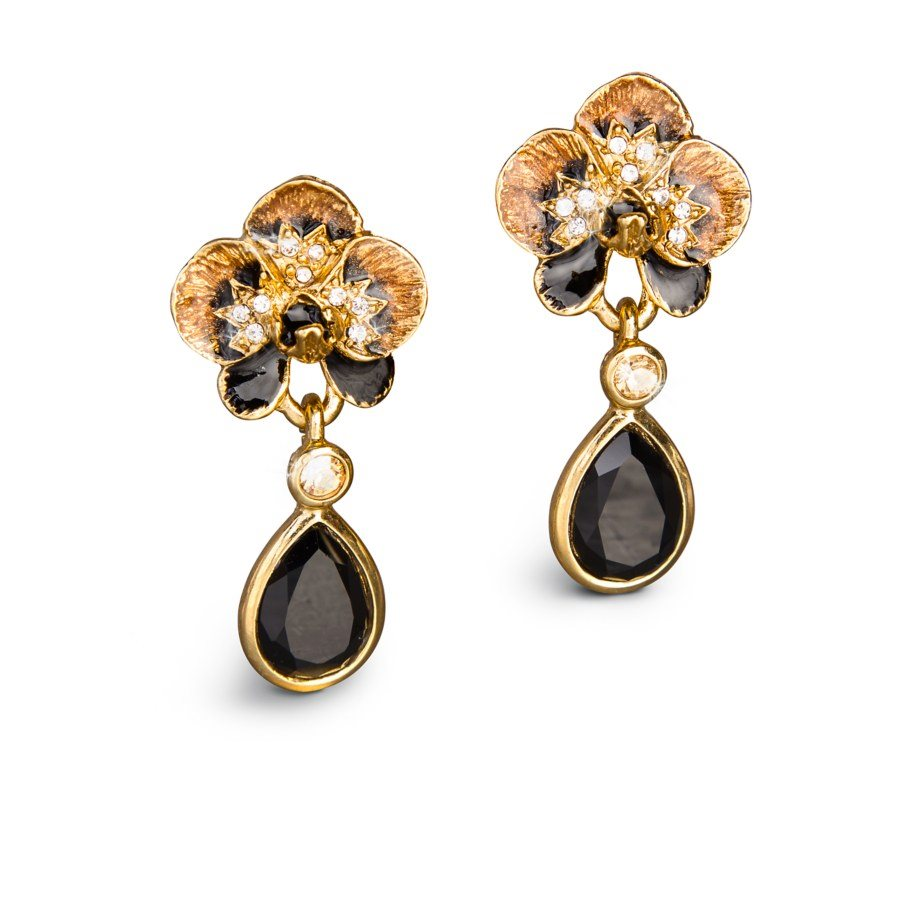 Jay Strongwater Savannah Orchid Drop Post Earrings