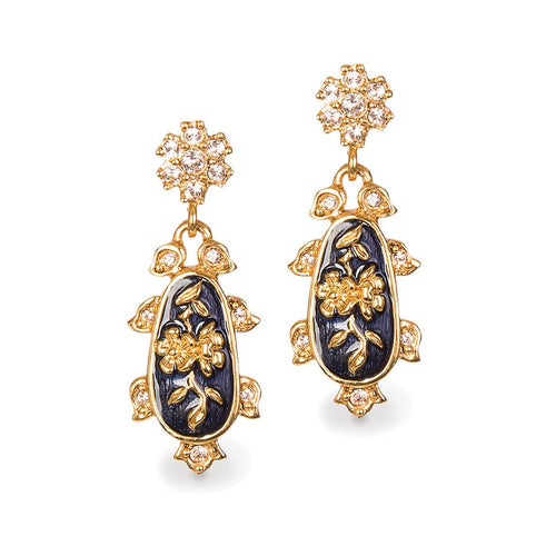 Jay Strongwater Chinoiserie Post Earrings