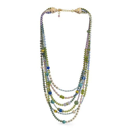 Jay Strongwater Six Strand Beaded Necklace