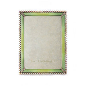 "Jay Strongwater Lucas Stone Edge 5"" x 7"" Frame - Apple"