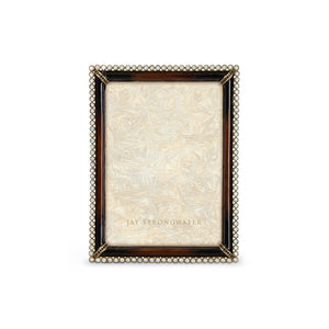 "Jay Strongwater Lucas Stone Edge 5"" x 7"" Frame - Dark Brown Safari"
