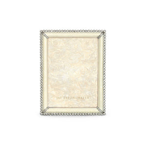 "Jay Strongwater Lucas Stone Edge 5"" x 7"" Frame - Crystal Pearl"