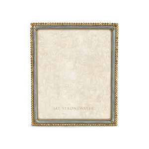 "Jay Strongwater Laetitia Stone Edge 8"" x 10"" Frame - Platinum Gray"