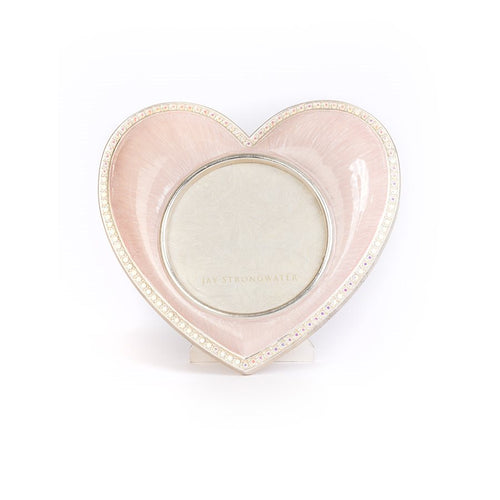Jay Strongwater Chantal Heart Frame - Pink