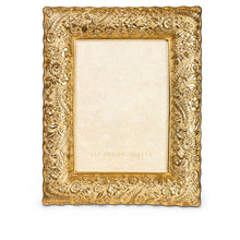 "Load image into Gallery viewer, Jay Strongwater Katerina Ruffle Edge Floral 5"" x 7"" Frame - Gold"