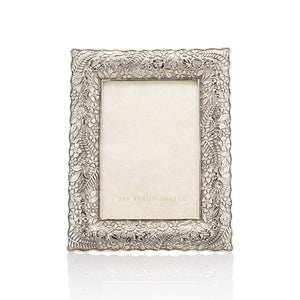 "Jay Strongwater Katerina Ruffle Edge 5"" x 7"" Frame - Silver"