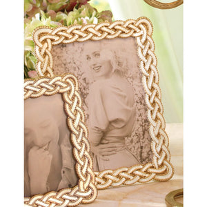 "Jay Strongwater Liam Braided 8"" x 10"" Frame"