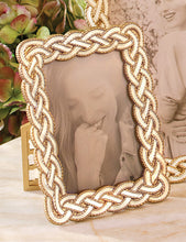 "Load image into Gallery viewer, Jay Strongwater Quinn Braided 3.5"" x 5"" Frame"