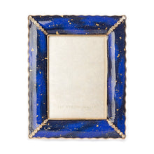"Load image into Gallery viewer, Jay Strongwater Clifton  Ruffle Edge 5"" x 7"" Frame - Sapphire"