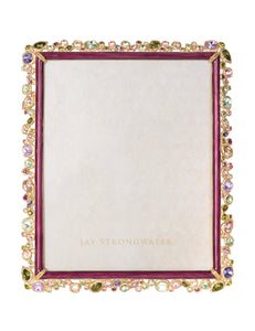 "Jay Strongwater Theo Bejeweled 8"" x 10"" Frame - Bouquet"