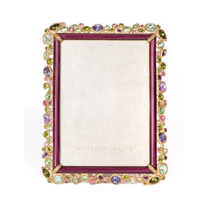 "Jay Strongwater Leslie Bejeweled 5"" x 7"" Frame - Multicolored"
