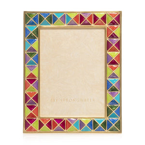 "Jay Strongwater Abaculus - Pyramid 3"" x 4"" Frame - Rainbow"