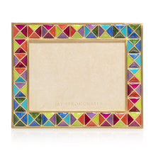 "Load image into Gallery viewer, Jay Strongwater Abaculus - Pyramid 3"" x 4"" Frame - Rainbow"