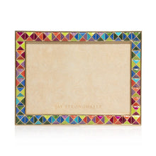 "Load image into Gallery viewer, Jay Strongwater Mosaic - Pyramid 5"" x 7"" Frame - Rainbow"