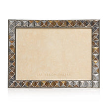 "Load image into Gallery viewer, Jay Strongwater Mosaic - Pyramid 5"" x 7"" Frame - Safari"