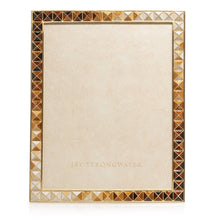 "Load image into Gallery viewer, Jay Strongwater Vertex - Pyramid 8"" x 10"" Frame - Golden Topaz"