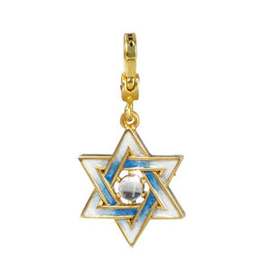 Jay Strongwater Star of David Charm