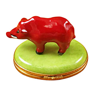 Red Boar Limoges Box