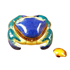 Blue Crab with Shell Limoges Box