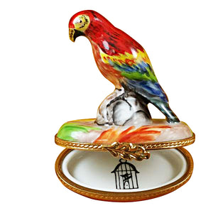 Red Parrot Limoges Box
