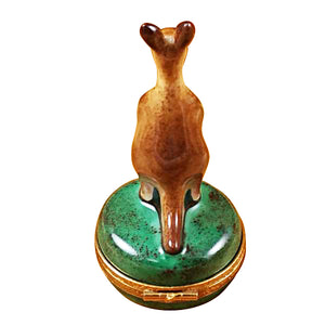 Kangaroo on Round Box Limoges Box