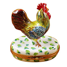 Load image into Gallery viewer, Rooster on White Base Limoges Box