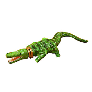 Green Crocodile Limoges Box