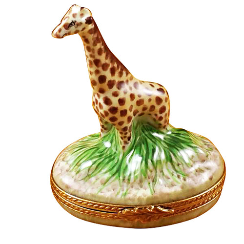 Giraffe on Grass Limoges Box