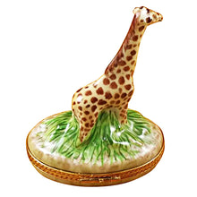 Load image into Gallery viewer, Giraffe on Grass Limoges Box