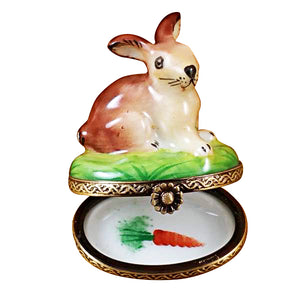 Small Bunny Limoges Box